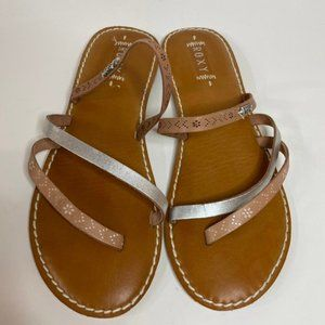 Like New Roxy Leather Strap Sandals Size 8.5